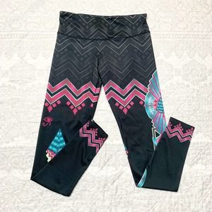 Onzie Cleo Chevron Egyptian Yoga Barre Leggings